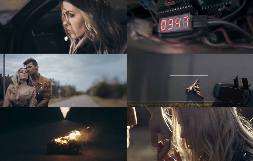 Запорожская певица ради съёмок клипа каталась на заминированном авто (Видео)