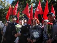 На акцию «Полка Победы» в Запорожье приехали пророссийские активисты из других городов: репортаж в фотографиях и фразах