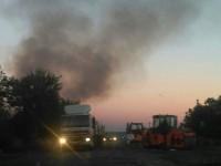 Трассу в Запорожской области накрыло дымовой завесой (Фото)