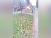 На Бабурке посреди улицы сгорел ВАЗ