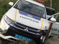 В полицейскую машину врезался «Ланос» на еврономерах — пострадал лейтенант
