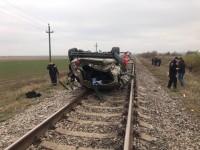 В полиции рассказали подробности смертельного ДТП с перевернувшимся на железнодорожных путях БМВ