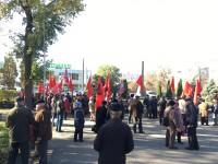 В Запорожье годовщину Октябрьской революции отмечают скромно (Фото)