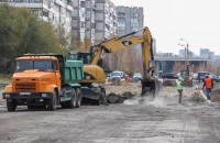 В центральном районе Запорожья строят новую дорогу