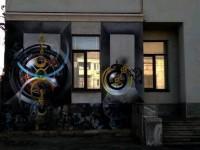 «Счастливые часов не наблюдают»: на запорожском здании нарисовали новый мурал