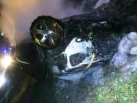 На запорожской трассе перевернулся и загорелся «Toyota Land Cruiser»: есть погибшие