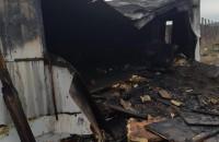 На стройплощадке запорожских мостов разгорелся пожар