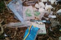 Возле больницы в Запорожье нашли свалку медицинских отходов