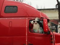 В Запорожье приехал грузовик из легендарной рекламы (Фото)