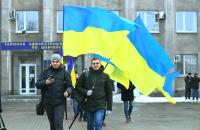 Без флешмобов: 100-ую годовщину Дня Соборности в Запорожье отметили скромно