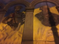 В Запорожье облили краской новый мурал, посвященный украинским защитникам (Фото)