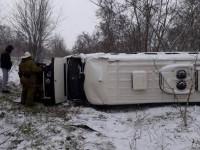 На трассе под Мелитополем перевернулся микроавтобус: есть пострадавший (Фото)