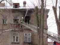 На пожаре в центре Запорожья едва не пострадали маленькие дети (Фото)
