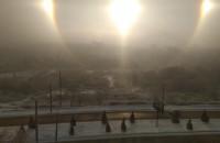 Тройное солнце: запорожцы делятся фото необычного природного явления