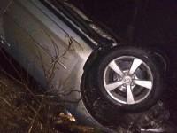 На запорожской трассе водитель слетел в кювет и перевернулся на крышу