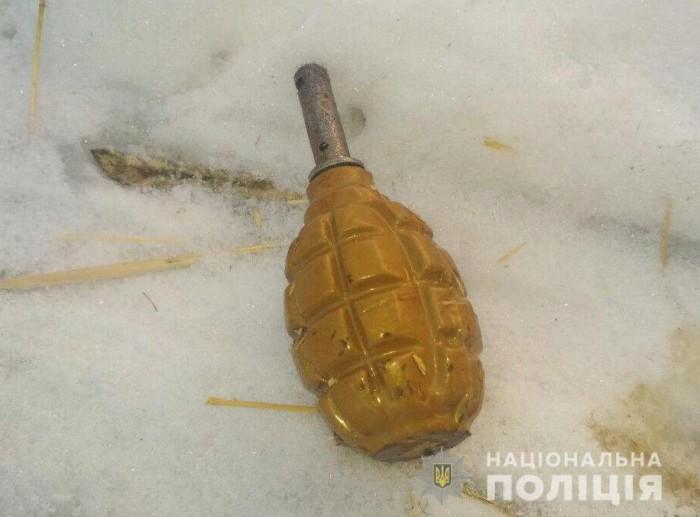Под Запорожьем злоумышленник угрожал полицейским пистолетом, а потом бросил гранату