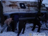 По пути в Энергодар рейсовый автобус с пассажирами слетел в кювет