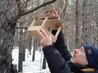 Запорожцы вышли на Хортицу кормить птиц (Фото)