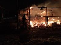 В Запорожской области сгорел гараж с тремя авто