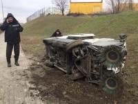 «Таких всего пару на город» в районе Набережной перевернулась машина-уборщик