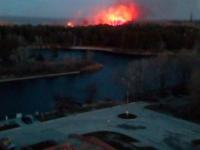 В районе Набережной Энергодара произошел крупный пожар – сгорел камыш