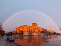 Первая весенняя радуга: запорожцы поделились в сети красивыми кадрами
