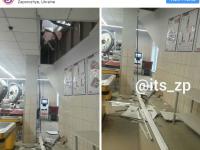 В запорожском супермаркете под вором провалился пол