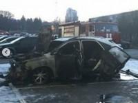 На закрытой парковке в центре Запорожья сгорел «Лексус» (Видео)