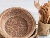 В Украине начали продавать одноразовую посуду, которую можно есть