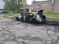 Сожженная в Мелитополе машина принадлежит экс-депутату