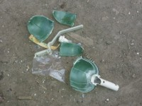 В Пологах во двор местным жителям бросили гранату
