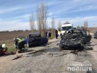 На запорожской трассе возле «Панской хаты» в аварии погибли два человека (Фото)