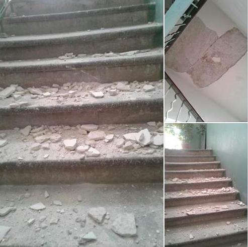 «Надежды больше нет»: в центре Запорожья в жилом доме рухнул потолок (Фото)