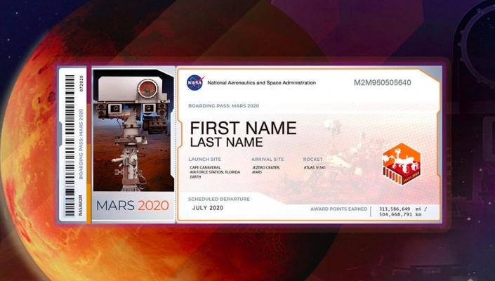 Ваше имя может бесплатно полететь на Марс – инструкция
