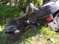 На трассе под Запорожьем «Ауди» вылетела в кювет и перевернулась: двое погибших