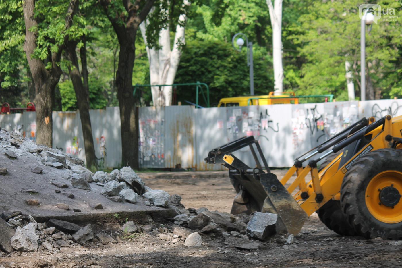 На Кичкасе кипят работы по реконструкции сквера за 16 миллионов (Фото)