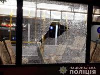 В Запорожье забросали камнями общественный транспорт