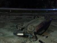 В Запорожье пьяный водитель перевернулся на «Таврии» (Фото)