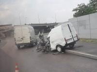На Хортице маршрутка попала в ДТП — есть пострадавшие (Видео)