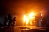 В Запорожье на складе рыбзавода произошел крупный пожар (Фото)