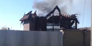 В Запорожской области двухэтажный дом развалился на глазах (Видео)