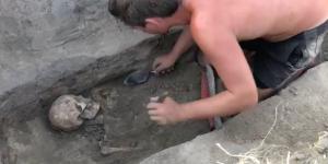 Археологи обнаружили в Запорожской области древнее захоронение (Видео)