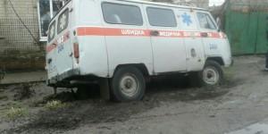 """В Запорожской области """"скорая"""" застряла в яме – понадобилась помощь спасателей"""