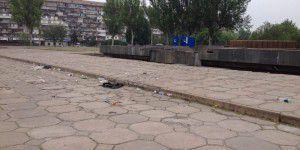 Фотофакт: Кандидат в Президенты в Запорожье оставил кучу мусора