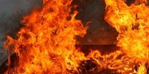 Ночью на Кичкасе сгорела маршрутка
