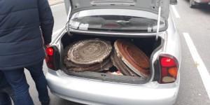 В Запорожье задержали местного жителя с полным багажником люков