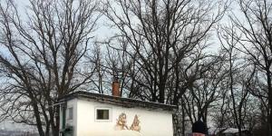 Заснеженную Хортицу патрулируют при помощи квадракоптера (Фото)