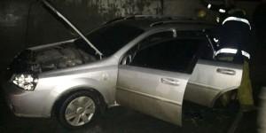 В Запорожской области сгорели две легковушки: в одной нашли кольцо от гранаты