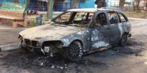 Ночью в Запорожской области сгорела иномарка
