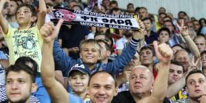 Тысячи болельщиков и волевая ничья: как в Запорожье прошел первый за 12 лет матч еврокубка (Фоторепортаж)